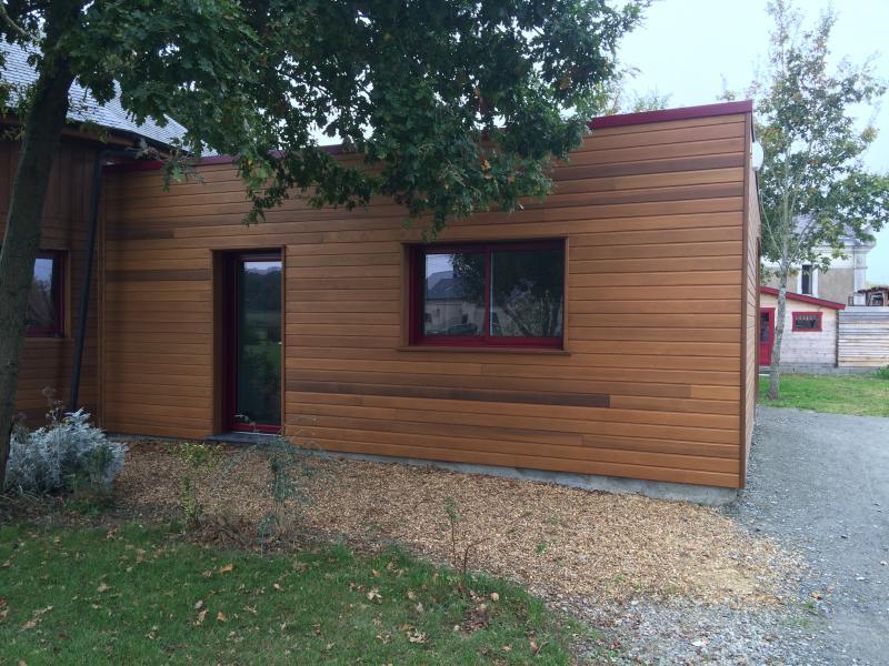 agrandissement ossature bois menuiserie charpente pierre et bois 49. Black Bedroom Furniture Sets. Home Design Ideas